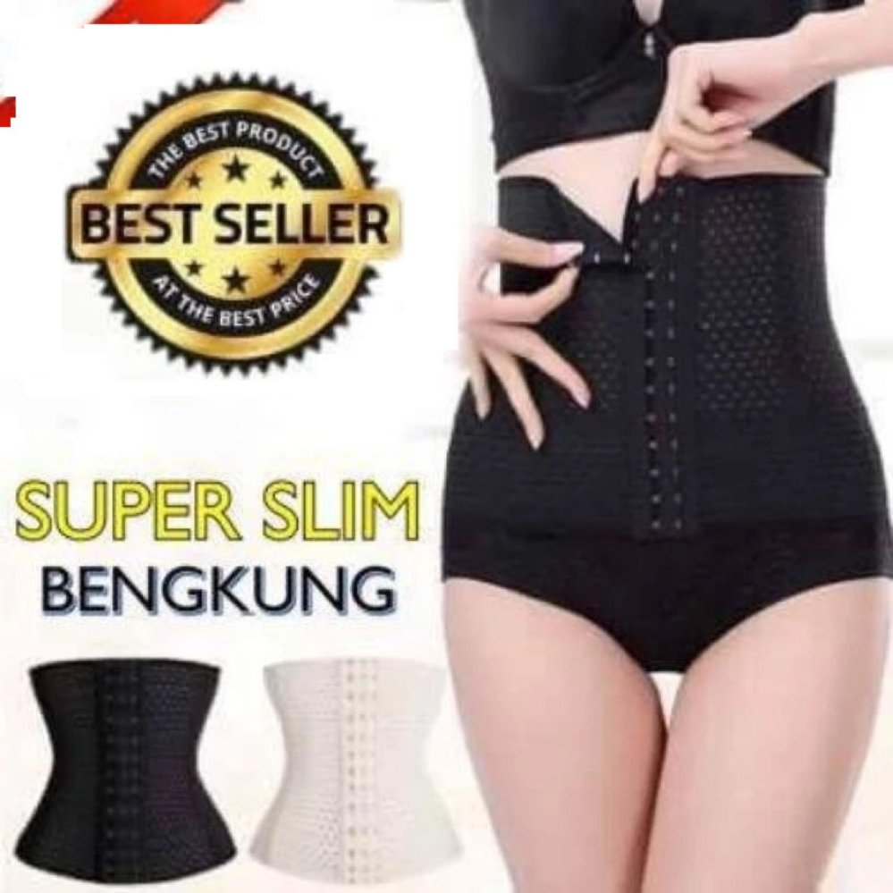 [READY STOCK - High FAST - DELIVERY] UltraSlim Corset Shaping Girdle Tummy Control Slimming Belt Bengkung Body Waist Quality - intl